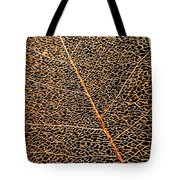 Copper Leaf Tote Bag
