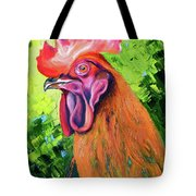 Copper Maran French Rooster Tote Bag