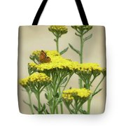 Copper On Yellow - Butterfly - Vignette 2 Tote Bag