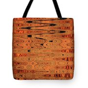 Copper Plates Double Abstract Tote Bag