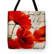 Coquelicots Rouge I Tote Bag
