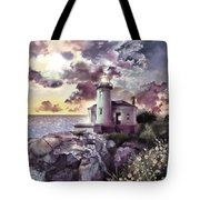 Coquille River Lighthouse 2 Tote Bag