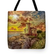 Coquille River Lighthouse 4 Tote Bag