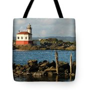 Coquille River Lighthouse Bandon Oregon Tote Bag