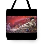 Coral 8thin The Vintage Mermaids Series Tote Bag