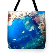 Coral Archways Tote Bag