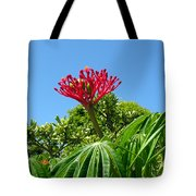 Coral Bush With Flower And Fruit Tote Bag