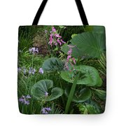 Coral Flower Path Tote Bag