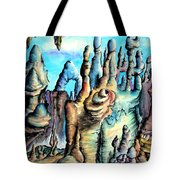 Coral Island, Stone City Of Alien Civilization Tote Bag