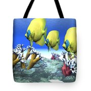 Coral Moods Tote Bag by Corey Ford