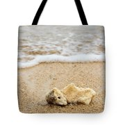 Coral On The Beach Tote Bag