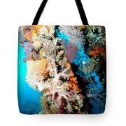 Coral Pillars Tote Bag