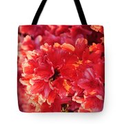 Coral Pink Azaleas Tote Bag by Jan Amiss Photography
