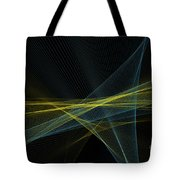 Coral Reef Computer Graphic Line Pattern Tote Bag