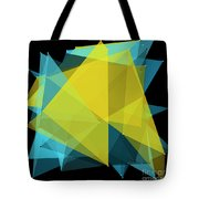 Coral Reef Polygon Pattern Tote Bag
