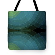 Coral Reef Semi Circle Background Horizontal Tote Bag