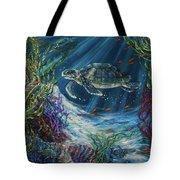 Coral Reef Turtle Tote Bag