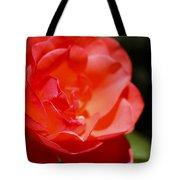 Coral Rose Focus Left Tote Bag