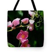 Coral Vine Flower Tote Bag