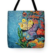 Coral With Cucumber Tote Bag