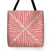 Coral Zebra 2 Tote Bag