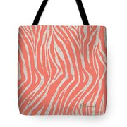 coral Zebra 3 Tote Bag