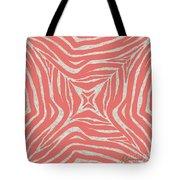 Coral Zebra Tote Bag