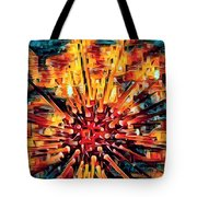 Corals Under The Sea Abstract Color Art Tote Bag