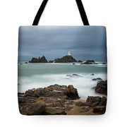 Corbiere Lighthouse Tote Bag by James Billings