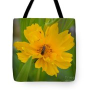 Coreopis Honey Bee Tote Bag