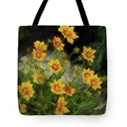 Coreopsis Tickseed Tote Bag