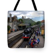 Corfe Castle Station Tote Bag