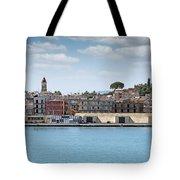 Corfu Town Port With Warehouses Tote Bag