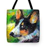 Corgi Dog Portrait Tote Bag