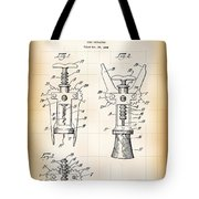 Cork Extractor Patent  1930 Tote Bag