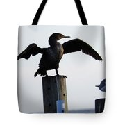 Cormorant And Seagull Tote Bag