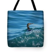 Cormorant In The Water Tote Bag