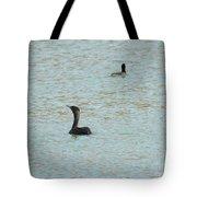 Cormorants On The Lake Tote Bag