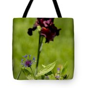 Corn Flower With A Friend Visiting Tote Bag
