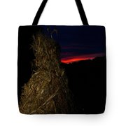 Corn Shock At Setting Sun Tote Bag