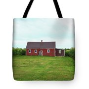 Red Barn In Field Tote Bag