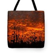 Corn Under A Fiery Sky Tote Bag