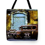Corner Garage Tote Bag