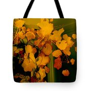 Corner In Green And Gold Tote Bag