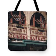 Corner Market Pikes Place Market Tote Bag
