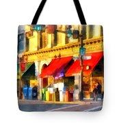 Corner Of Center And Merchant Rutland Vt Tote Bag