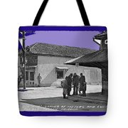 Corner Of Meyer And Convent Barrio Burton Frasher Photo Tucson Arizona 1938 Color Added 2016 Tote Bag