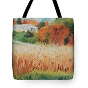 Cornfield In Autumn Tote Bag