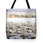 Cornfield In Winter Tote Bag