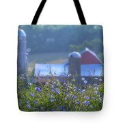 Cornflower And Barn Tote Bag